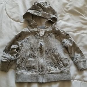 Boy's jacket size 9 months gray with tigers